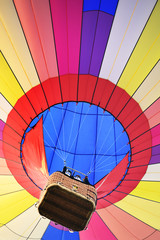 Acrylic Prints Sky sports colorful hot air balloons in the start of journey trip on sunset sky background