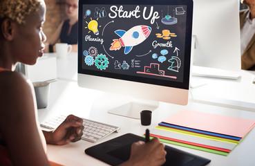 Start up Planning Growth Development Launch Concept