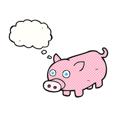 thought bubble cartoon piglet