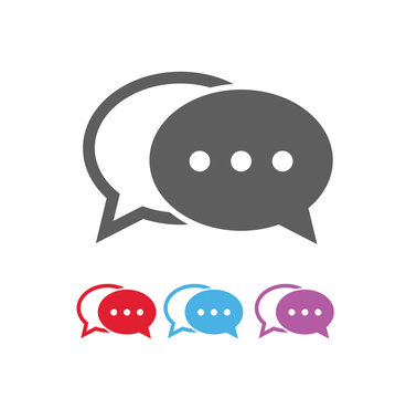 Dialog bubbles icon, vector eps10 illustration