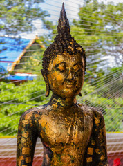 Buddha statue from temple in Thailand