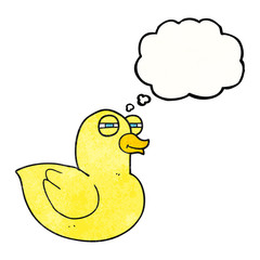 thought bubble textured cartoon funny rubber duck
