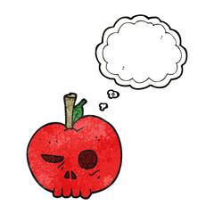 thought bubble textured cartoon poison apple