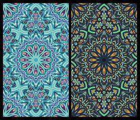 set of seamless patterns: detailed vector persian carpet