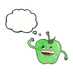 thought bubble textured cartoon apple