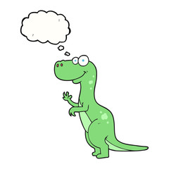 thought bubble cartoon dinosaur