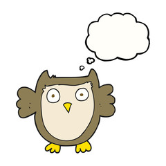 thought bubble cartoon owl