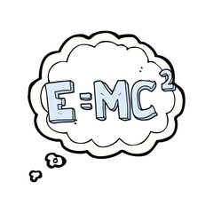 thought bubble cartoon science formula