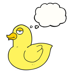 thought bubble cartoon duck