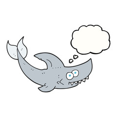 thought bubble cartoon shark