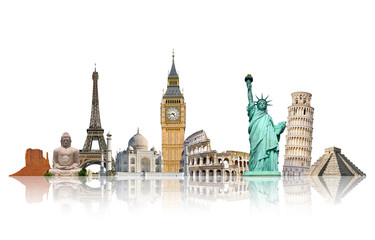 .Famous monuments of the world