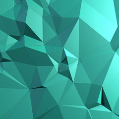 Green background of triangles