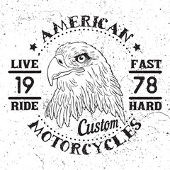 American Eagle Motorcycle Emblem.