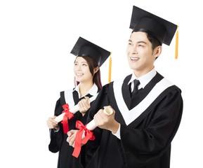 happy Graduation man and woman education students