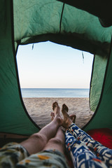 tent with a view of the sea