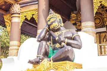 Buddhist art Stone ane Wood carvings