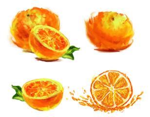 drawing slice of orange
