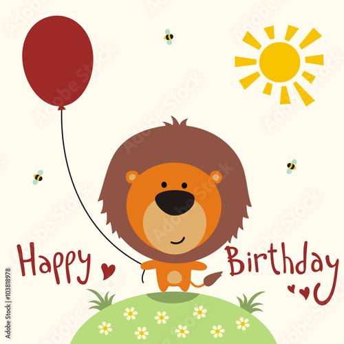 Funny Happy Birthday Card Vector EdPeer