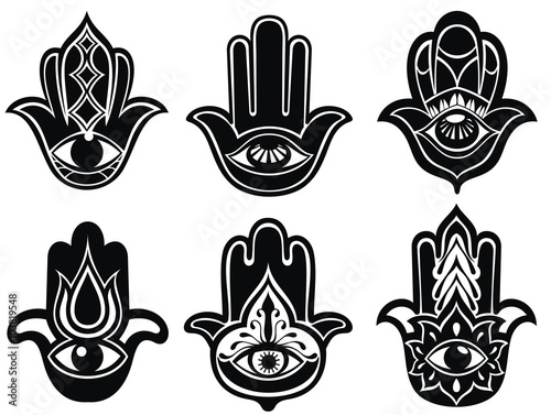 Hand Of Fatima Symbol Of Protection From Devil Eye Stock Image