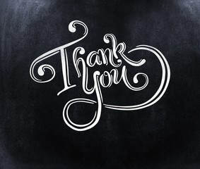 Composite image of thank you message