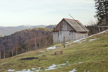 Rustic old wooden barn