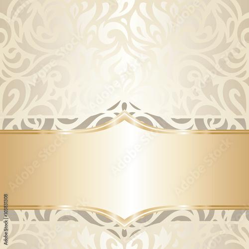 quotwedding vintage wallpaper decorative design white amp gold