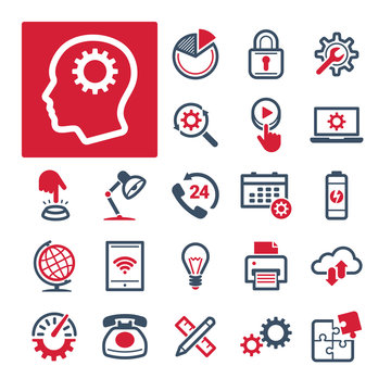 A selection of icons related to Office, Productivity and Communication (Part 2).