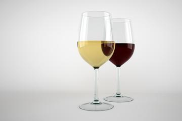 вино в высоких бокалах