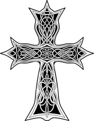 cross in celtic style