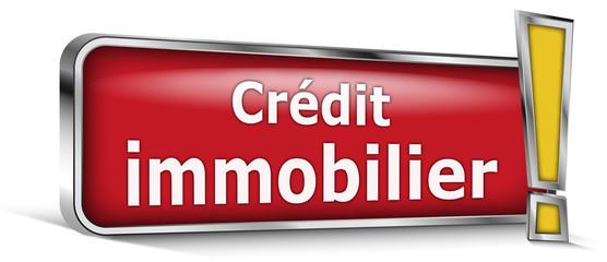 Crédit immobilier sur panneau rouge