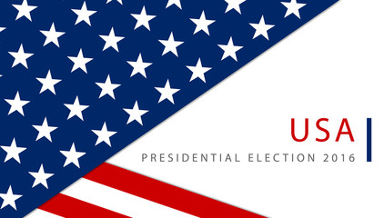 Presidential election in the USA 2016 poster template