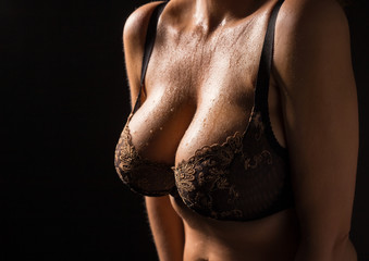 Sexy woman with big breasts