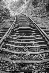 Industrial railway track