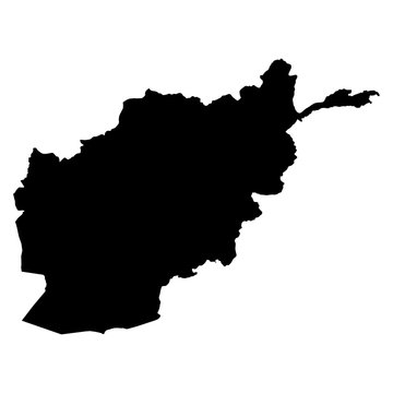Afghanistan map on white background vector