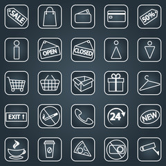 Set of shopping icons. Line icons.