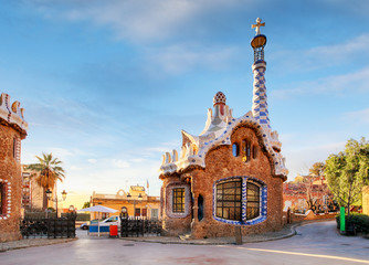 Foto op Canvas Barcelona Barcelona, Park Guell, Spain - nobody