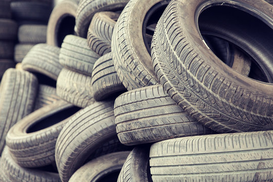 close up of wheel tires