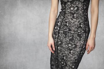 beautiful body in a dress