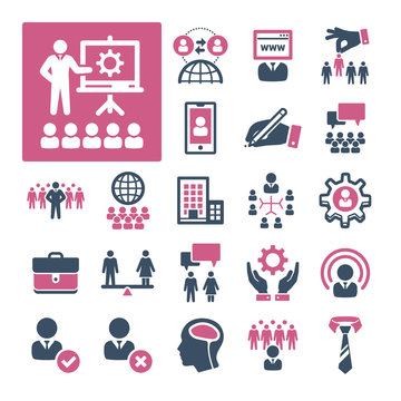 A selection of icons related to HR, Recruitment and Management