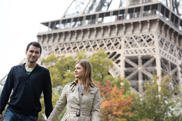 young couple in Paris