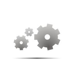 Gear icon with grey shadow