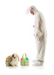 Bunny: Bunny Man Runs Into Real Easter Bunny