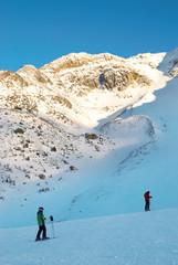 Skier on the mountain slope