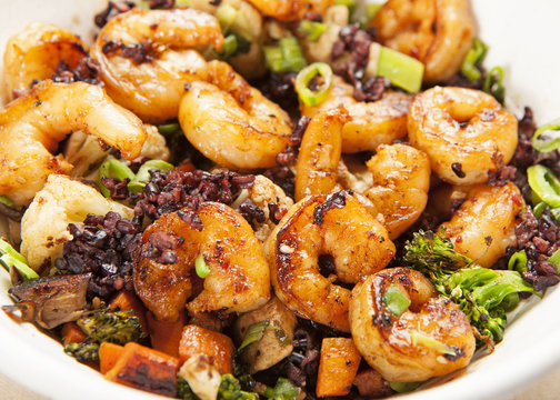 Shrimp and Vegetable Rice Bowl