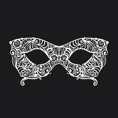 patterned masquerade Mask