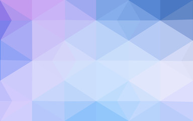 Multicolor pink, blue polygonal design pattern, which consist of triangles and gradient in origami style.