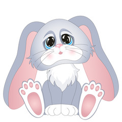 Cartoon rabbit. Isolated object for design element