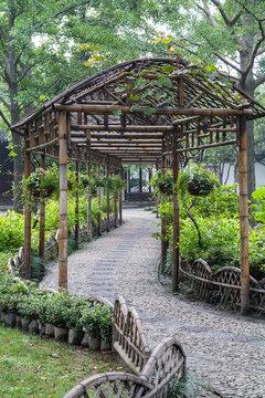 Classical garden in Suzhou,  China