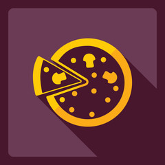 Flat modern design with shadow  Icon pizza