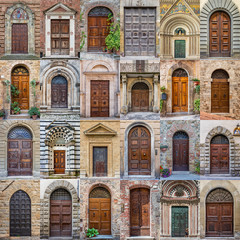 Old antique door Tuscany Italy